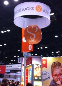 The amazing Sourcebooks booth.